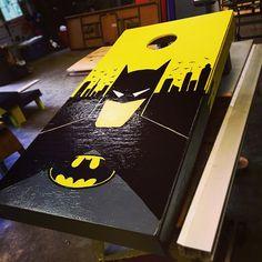 Image result for batman cornhole board