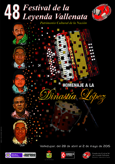 Afiche promocional del 48 Festival de la Leyenda Vallenata