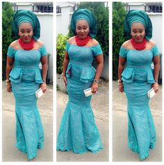 Stylish Mercy Aigbe looks uber pretty as always for an event this past weekend. The gorgeous actress rocks a teal lace attire and seals up the look with a bold red neck piece. Mercy couldn't hide her excitement as she reveals that she did her makeup herself. We think the facebeat was...
