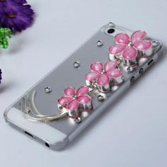 $4.92..Free Shipping . Ships out in 24 hrs. Shining Rhinestones 3D Pink Cherry Blossom Design Clear Plastic Hard Case Cover for iPhone 5..http://www.everbuying.com/product266505.html?lkid=9611