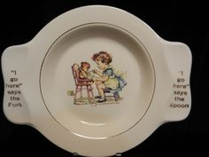 Antique Dishes Homer Laughlin C9n7 | Vintage Homer Laughlin - My Own Plate made for Holmes and Edwards from ...