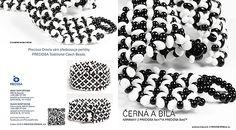 Black and white bracelets made from PRECIOSA Twin™and PRECIOSA Solo™