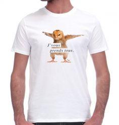 T-shirt J'vous prends tous Monsieur Tshirt, Tee Shirt Homme, Tee Shirts, Tees, Mens Tops, T Shirts, T Shirts, T Shirt, Teas