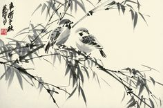 sparrow chinese painting - Buscar con Google