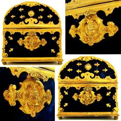 Antique French Napoleon III Gilt Bronze Marriage Box / Casket, Armorial Coat of Arms