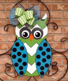 Mothers Day Gift Door Hanger Hoot Owl Summer Door Hanger Front Door Hanger Spring Decor