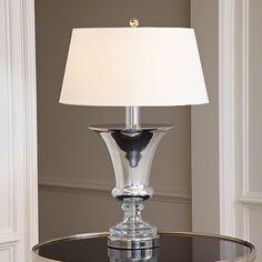 Global Views Silver Flared Urn Lamp