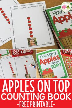 Preschool Apple Activities, Preschool Apple Theme, Preschool Class, Preschool Books, Preschool Lessons, Book Activities, Preschool Apples, September Preschool Themes, Class Library