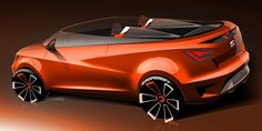 Seat Ibiza Cupster Concept Design Sketch