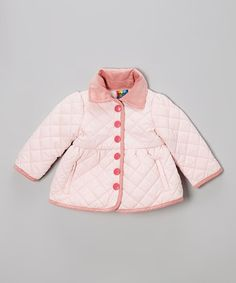 Loving this Pink Quilted Coat - Infant & Toddler on #zulily! #zulilyfinds