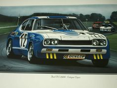 Ford's famous Cologne Capri RS Size 60 x 35 cm. Ford Capri, Sport Cars, Race Cars, Aston Martin Dbr1, Jochen Rindt, Ferrari 288 Gto, Jackie Stewart, Carroll Shelby, Ford Classic Cars