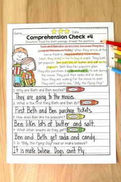Reading Comprehension Checks for March- Build confidence in beginning and struggling readers with these short stories, while teaching students to find text evidence to support their answers.