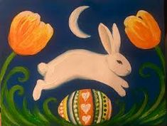 Image result for easter bunny acrylic painting