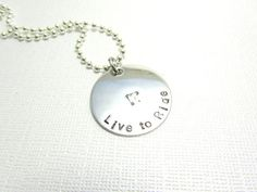 Live to Ride Hand Stamped Stainless Steel by EnchantedObjects, $19.00