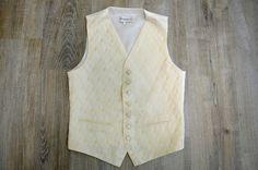 Vintage Pronuptia Mens Wedding Vest White Gentleman's Waistcoat Size S Wedding Vest, Barbour Mens, Black Fedora, Men's Vintage, Vintage Ladies, Polka Dot Shirt, Black Felt, Quilted Jacket, Sailing Jacket