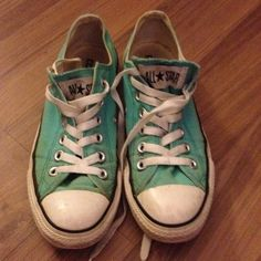 Blue converse Light blue women's converse all star shoes. Used, still good condition. Size 7. Converse Shoes