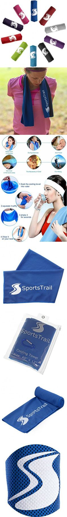 Cooling Towel, Ice Sports Towel, Stay Cool with 40''×12'' Microfiber Towel for All Activities, Keep Cool with Chilly Towel and Use it As Yoga Towel, Fitness Towel, Gym Towel, Golf Towel/Waterproof Bag
