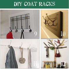 I am in NEED of a coat rack & just found a ton of ideas, now just what to decide on..