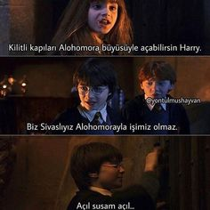 Harry Potter Komik Türkçe Harry Ptter, Harry And Hermione, Harry Potter Draco Malfoy, Harry Potter Cast, Harry Potter Memes, Golden Trio, Halloween Spell Book, Ridiculous Pictures, Comedy Pictures