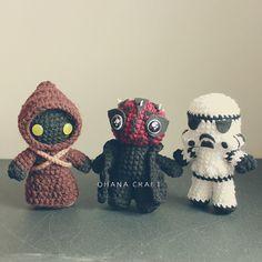 Star wars inspired crochet doll Star war by OhanaCraftAmigurumi