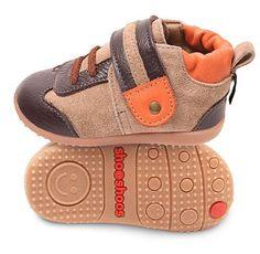 Sand / Orange Smiley by shooshoos Future Baby, Leather Shoes, Trainers, Baby Shoes, Pairs, Brown, Kids Footwear, Smileys, Orange