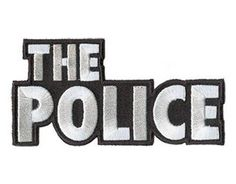 The Police Band Logo - Sting - New Licensed Embroidered Woven Sew/Iron On Patch