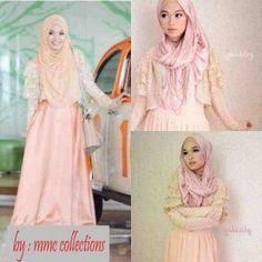 Tasya Maxi Peach - Grosir Baju Ima Collections