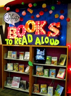 A New Version of BOOKS is Available. Would You Like to Update to Display Great Books to Read Aloud and bad internet humor courtesy of Rachel Moani Library Work, Library Boards, Class Library, Elementary Library, Library Lessons, Library Themes, School Library Displays, Middle School Libraries, Classroom Displays