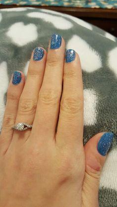 Blue sparkle nails