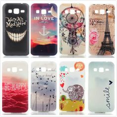 Smile Butterfly Dream Catcher Anchors Mandala Ultrathin TPU Soft Back Cover Case for Samsung Galaxy Core Prime G360