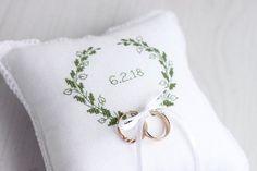 Ring Bearer Pillow Wedding Ring Pillow white ring pillow