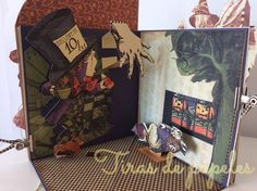 MiniAlbum Halloween in Wonderland Pop Up, Libros Pop-up, Mini Albums Scrap, Alice In Wonderland, Louis Vuitton Monogram, Gift Wrapping, Halloween, Pattern, Blog
