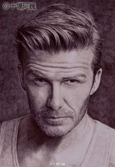 David Beckham. Drawn by a young Chinese painter with a ballpoint pen. http://www.visiontimes.com/2015/04/25/when-celebrities-meet-ballpoint-pen-art.html