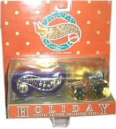 1996 HOT WHEELS COLLECTOR EDITION CHRISTMAS ORNAMENT, TANNERBOMB, COLLECTOR CASE #HotWheels