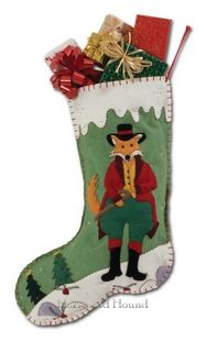 Squire Fox Christmas Stocking Christmas Stockings - Christmas Decor at Horse and Hound Gallery