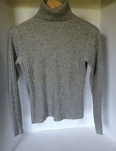 Autumn Cashmere Womens Gray Turtleneck Sweater Size Medium