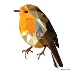"""low poly bird vector"" fichier vectoriel libre de droits ..."