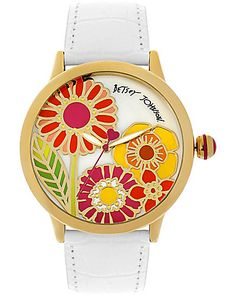 Betsy Johnson - FLOWER FACE WATCH. I LOVE THIS!!