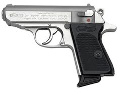 Walther PPK Stainless, chambered in .380 ACP cartridge...wouldn't mind carrying one of these!