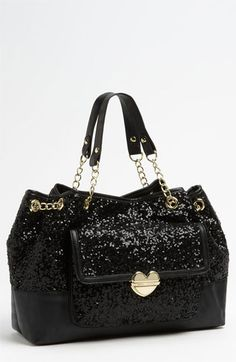 DesertRose,;,Betsey Johnson Multi Sequin Tote available at #Nordstrom,;,