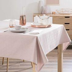 LOLLY pink jacquard tablecloth 150 x 250 cm