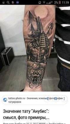 Egyptian Tattoo Sleeve, Tatto Sleeve, Best Sleeve Tattoos, Leg Tattoos, I Tattoo, Tatoos, Egypt Concept Art, Anubis Tattoo, Badass Tattoos