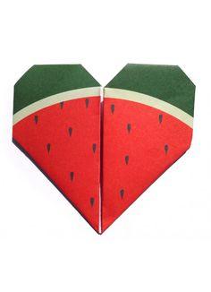 Origami Notepaper Set—Watermelon