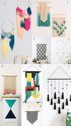 check out this round up of 9 amazing diy wall hangings. Your wall will never be boring again.