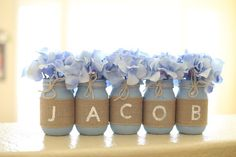 Taufe Dekorationen Boy Taufe Dekor Taufe Dekorationen Mittelstücke Rustikale Ta… Baptism Decorations Boy Baptism Decor Baptism Decorations Centerpieces Rustic Baptism Decorations Baby Boy Baptism Mason jars with burlap # middle pieces First Birthday Decorations Boy, Boy First Birthday, Diy Birthday, Birthday Parties, Boy Baptism Decorations, Baby Shower Ideas For Boys Decorations, Boys First Communion, First Communion Decorations, Rustic Birthday