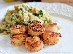 Seared Scallops with Spinach and Quinoa