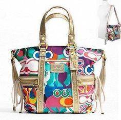 What a fun handbag! Authentic Coach Daisy Poppy C Print Pocket Tote Convertible Shoulder Messenger Crossbody Bag Coach Handbags, Coach Purses, Purses And Handbags, Boho Hippie, Bag Jeans, Cheap Coach Bags, Hippy Chic, Crossbody Bag, Tote Bag