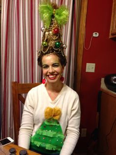 78 Best images about Dr Seuss Who Ville Hair Ideas on . christmas hair sayings Grinch Christmas Party, Grinch Party, Christmas Party Themes, Tacky Christmas, Christmas Love, Grinch Costumes, Who From Whoville Costume, Diy Whoville Costumes, Ugly Xmas Sweater