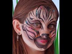Zebra Face Paint Design VIDEO Tutorial