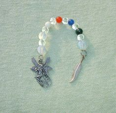 Fairy Wiccan Prayer Beads with Pentagram - GET IT NOW with Bonus! - ONLY ONE OOAK